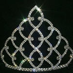 "5"" Traditional Rhinestone Crown - Silver 172-11186S"