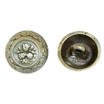 Domed Floral Shank Button 107.0810