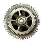 Spinning Steampunk Gear Button 107.1202