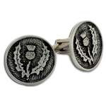 Thistle Pewter Cufflinks 136.1428