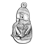 Caroling Snowman Christmas Ornament 119.0488