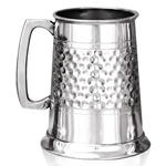Half Hammered One Pint Pewter Tankard