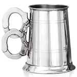 Handcuffs Handle One Pint Pewter Tankard