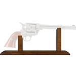 Pistol Display Stand For Old West Revolvers Dark Finish