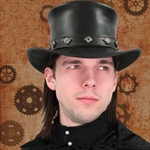 Steampunk Leather Hat 26-101132