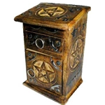 Wooden Pentagram Herb Cupboard,Wooden Pentagram Cupboard
