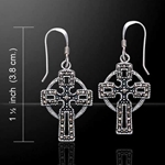 Celtic Cross with Marcasite Silver Earrings 52-VE060