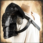 Assasin's Deluxe Pauldron - Black Leather