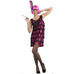 20's Pink Flapper Adult Costume 100-179598
