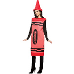 Crayola Red Crayon Adult Costume 100-188528