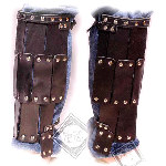 Leather Dark Age Warrior Greaves BTS-5601