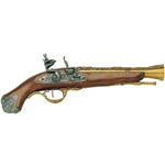 British Flintlock Blunderbuss - Non-Firing Replica - Antique Brass Trim