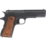 Us Gov. M1911 Checkered Wood Grips Black - Non Firing Replica