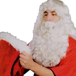 Father Christmas Deluxe Santa Wig and Beard Set