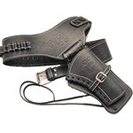 Western Right-Draw Single Rig Holster, Medium  - Black