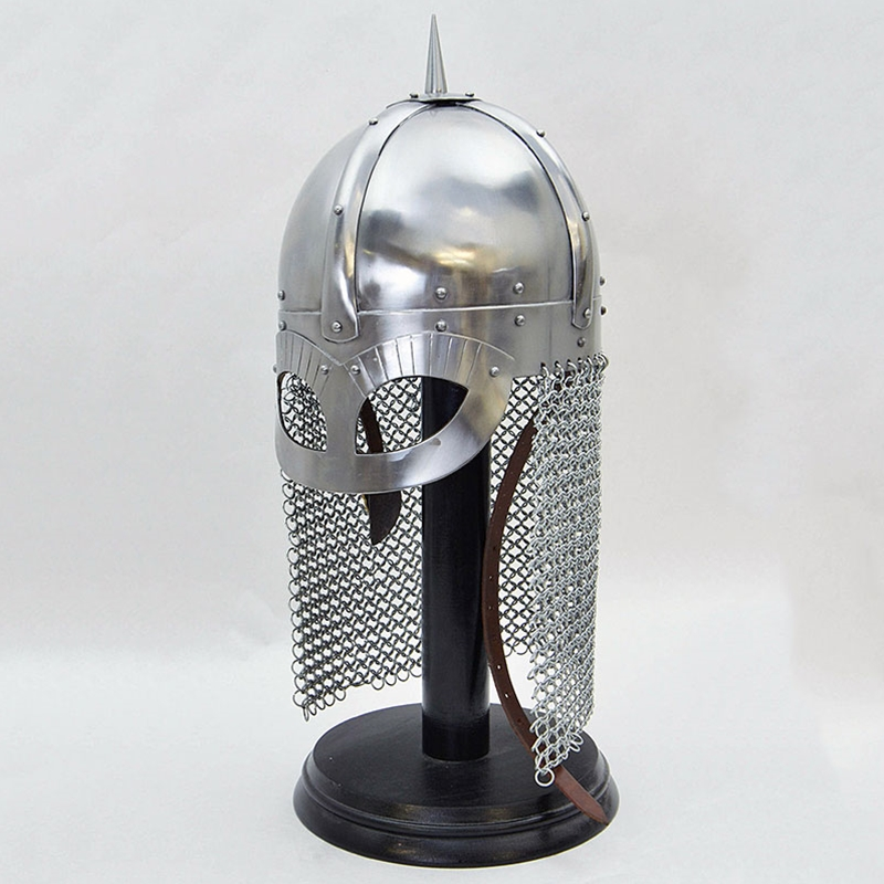 18GA SCA Medieval VIKING Wolf GJERMUNDBU Helmet Armor Replica Helmet AJ413
