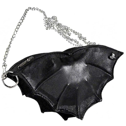 Black Leather Bat Purse
