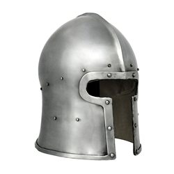 Sca Leather Armor - T Face Barbute Helmet, Large