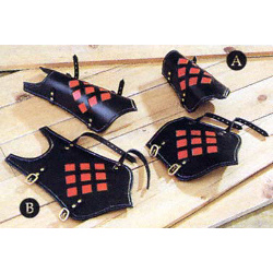 Leather Window Greaves AH-6762