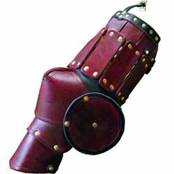Dark Age Warrior Leather Leg Armour