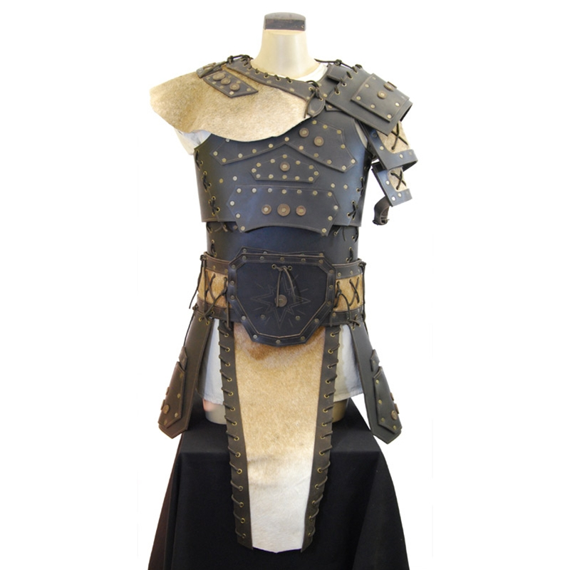 Sca Leather Armor Barbarian Leather Armor Set Brown